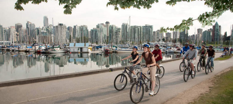 Biking in Stanley Park