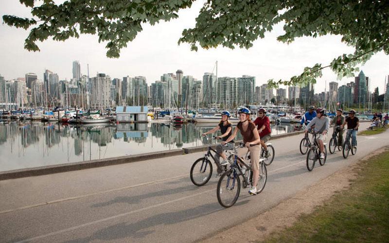 Biking in Stanley Park