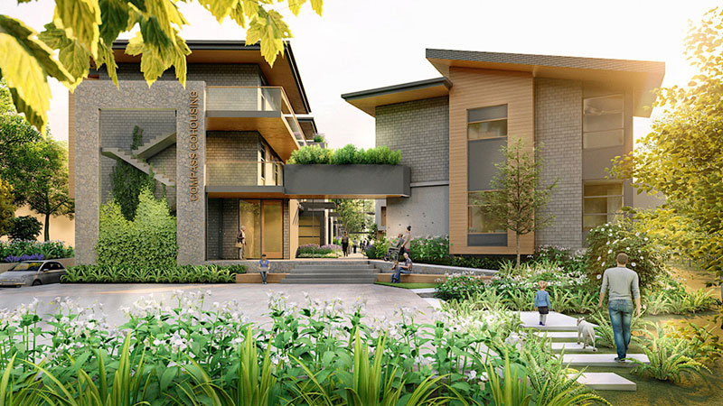 Compass Cohousing Rendering