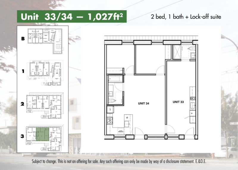2 bedroom and lock off suite layout