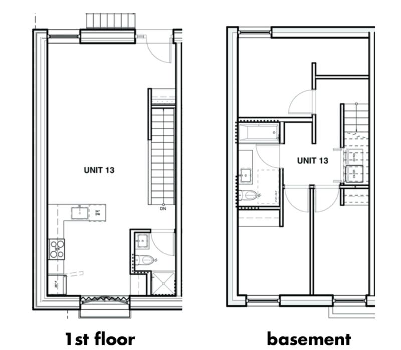 Unit 13 - touwnhome - Floor plans